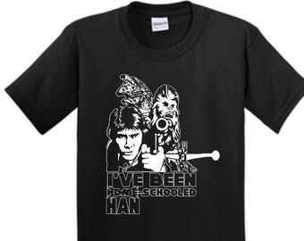 childs Home scholl Han Solo t shirt