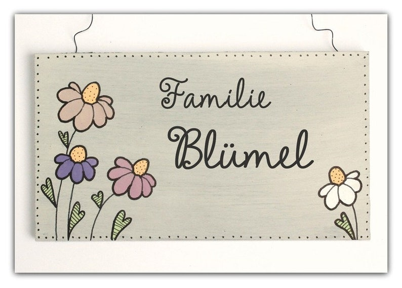 personalized door sign family wood image 0