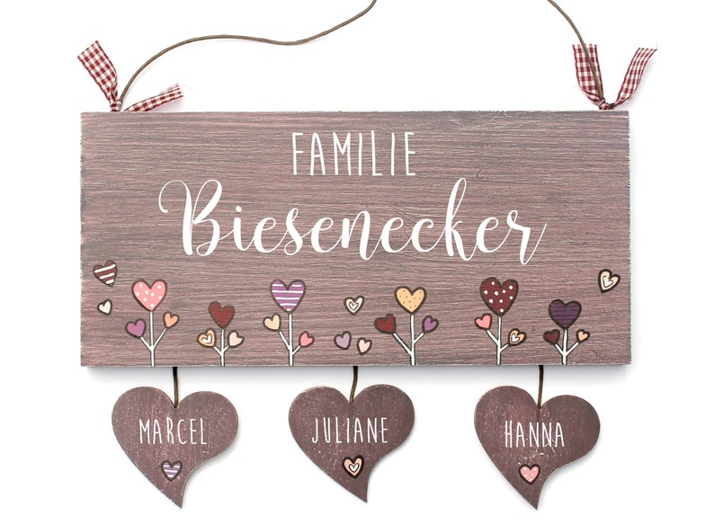 Personalized door sign wood name tag family door sign front image 0