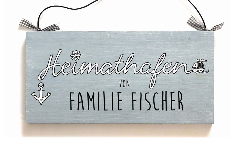 Door sign family personalised home port image 0