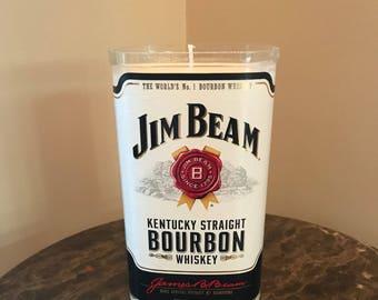 Jim Beam Bourbon Bottle Candle