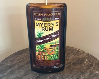 Myers's Rum Bottle Candle