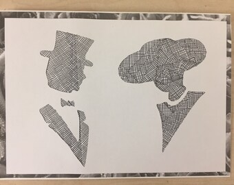 Man and Woman Silhouette Love Card