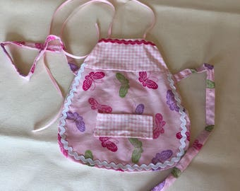 Butterflies artist smock great for party favors American girl doll and other 18 inch doll apron can be customized party favor