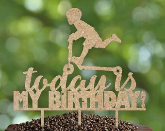 Birthday cake topper for kids- Silhouette Cake Topper- Personalized birthday Cake topper- Personalized Birthday cake topper for kids
