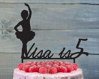 Ballet birthday Cake Topper- Customizable Cake Topper- dancer cake topper- Ballerina dancer cake topper- Personalized birthday cake topper
