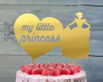 Sweet Sixteen Cake Topper- Customizable birthday Cake Topper- My Little Princess Cake Topper- Silhouette Princess Cake Topper- cake topper