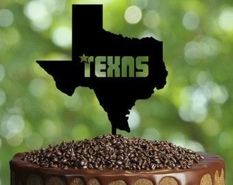 TEXAS Cake Topper- Customizable Cake Topper- Birthday Cake Topper- Silhouette TEXAS Cake Topper- custom cake topper Gift-  cake topper