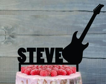 Guitar Cake Topper Rock Star Birthday