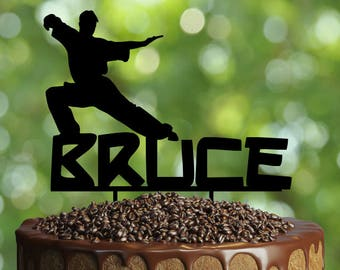 Personalised Martial Arts Cake Topper Customizable Birthday Party Decorations With Personalized Namemartial
