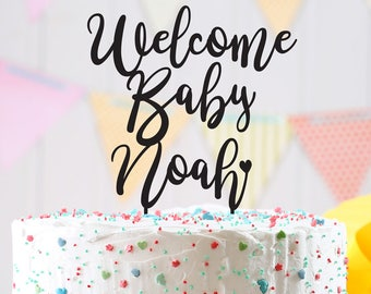 Baby shower Cake Topper, welcome baby cake topper, baby shower custom cake topper, Customizable cake topper, baby shower cake topper