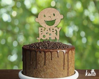 Customizable Baby shower Cake Topper-Silhouette baby shower Cake Topper-Custom cake topper-Personalized baby shower cake topper- Baby shower