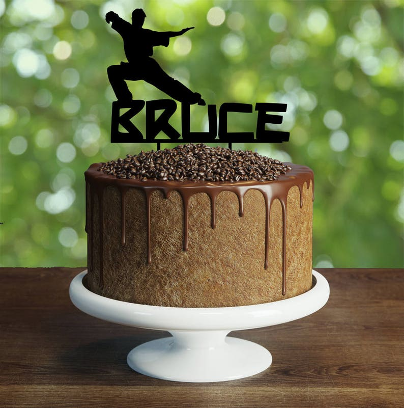 Personalised Martial Arts Cake Topper Customizable Birthday