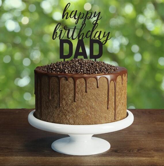 Custom Happy Birthday Dad Cake Topper We Love