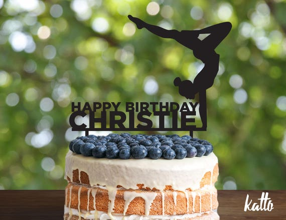 Gymnast Cake Topper Gymnastics