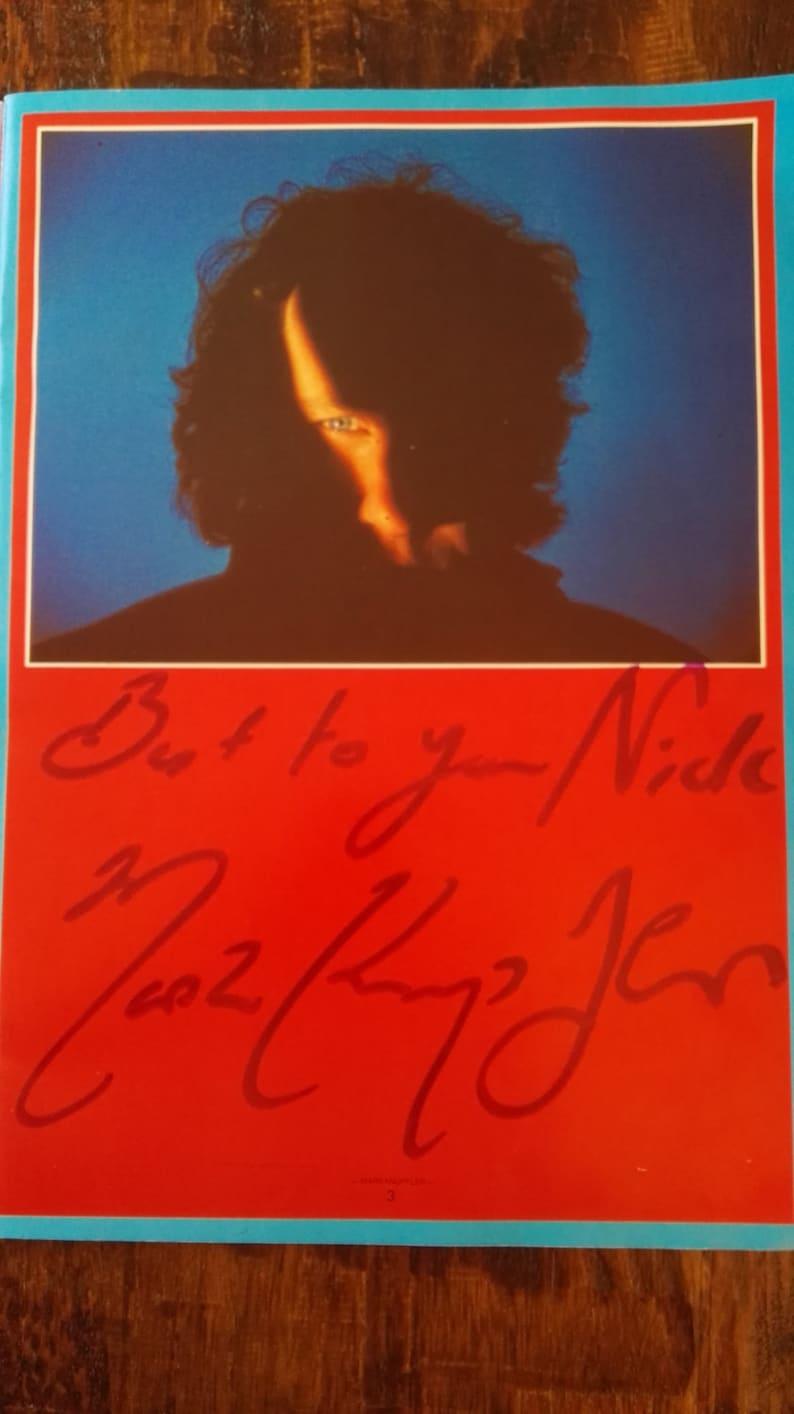 Mark Knopfler Notlage Signiert Autogramm Tourbuch Machen Filme Etsy