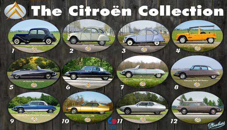 The Citroen Classics Collection oval posters image 0
