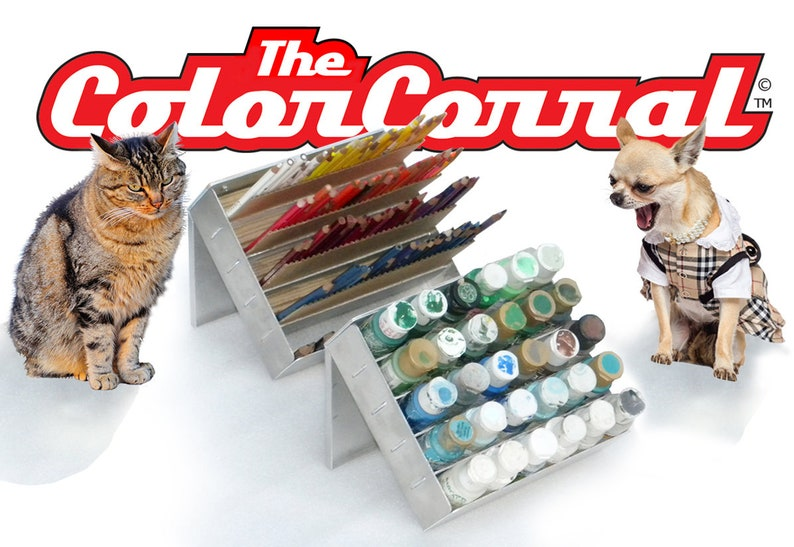 The COLOR CORRAL desktop craft supplies and tools organizer image 0