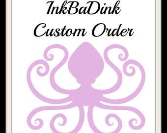 Custom Order- Enter details in 'notes to seller' section.
