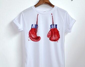 boxing gloves Shirt - boxing boob Shirt - boob boobs Shirt - boxing girl bikini Clothing Women Unisex