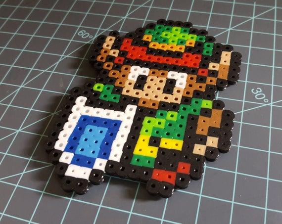 The Hero of Time - Legend of Zelda, Link the the Past, Link, pixel art, 16 bit art