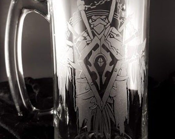 For the Horde | Hand Engraved Stein | Free Personalization