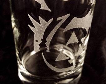 Full Metal Alchemist - Oroboros Glass   Hand Engraved Glass