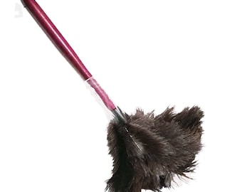 Ostrich soft Feather Duster with Long Wooden Handle | Exterior Cleaner,Duster for Blinds Kitchen Keyboard Office,Soft and Fluffy Dusters
