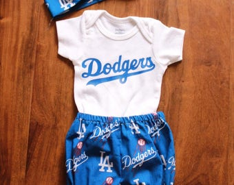 Dodgers Baby Girl Outfit