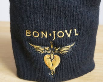 Bon Jovi Embroidered Polyester Cap/ Bon Jovi Embroidered  Polyester Hat/Tuque brodée Bon Jovi