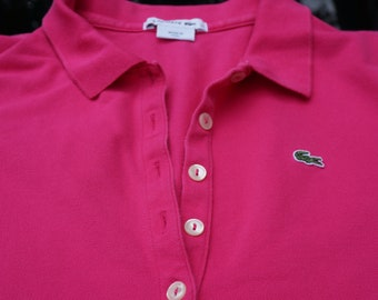 89a5356f6ab1 Women Adult Polo LACOSTE -Size M  Pink Polo LACOSTE-Size 44 Polo Lacoste  rose-taille moyenne