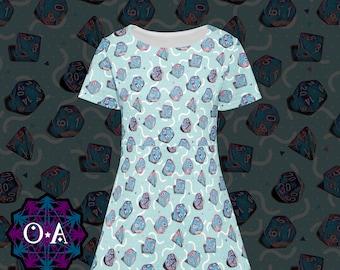 Miami Dice Dress - Short Sleeve Gamer Dress Cosplay Dress Comicon Dress Dice Dress RPG Dress Roleplaying Game Dress
