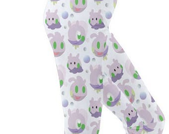 Goomy Leggings - Pokemon Leggings Cosplay Leggings Comicon Leggings Goodra Leggings Dragon Pokemon Evolutions Sliggoo Leggings