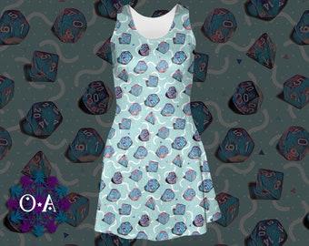 Miami Dice Dress - Skater Dress Gamer Dress