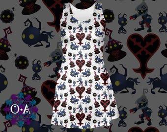 Kingdom Hearts Enemies Dress - Videogame Dress Heartless Dress KH Dress Cosplay Kingdom Hearts Dress Oddity Apparel