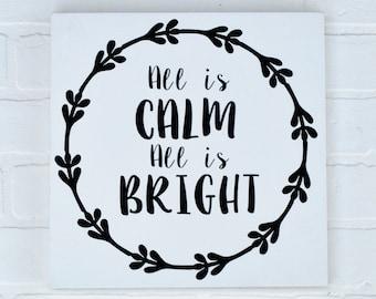 All Is Calm All Is Bright | All Is Calm All Is Bright Sign | Christmas Sign | Wood Sign | Christmas Decor