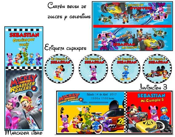 Imprimibles Mickey Aventuras Sobre Ruedas Stickers T