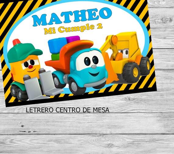 wide varieties crazy price factory outlets Kit Imprimible Leo pequeño camión de juguete
