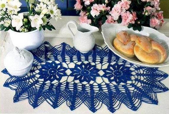 Handmade Gehaakt Kleedje Ovaal Gehaakt Tafelkleed Haak Home Etsy