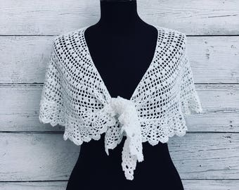 DIY Kit Crochet Shawl Scarf Wrap , Viscose Silk Soft Lace Knit Handwoven Stole, Summer Crescent Russian Shawl, Pattern PDF, Written Tutorial