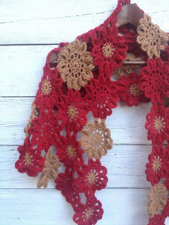 Merino-Wolle häkeln Schal Schal wickeln Oma Platz japanische | Etsy