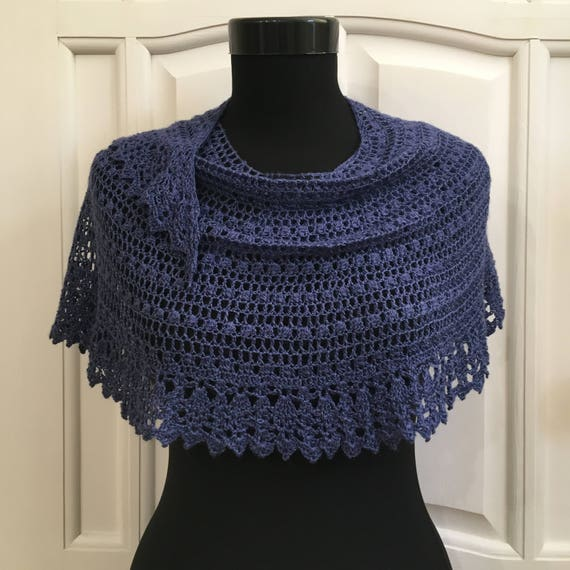 crochet shawl scarf pattern pdf lace airy wool crescent wrap etsy Wing Diagram Crochet Wrap image 0