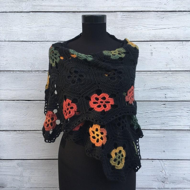 0e4a34ef1a3 Crochet Shawl Wrap Kit écharpe laine mérinos bricolage tricot