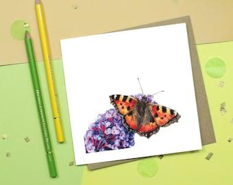 Butterfly Butterflies Dancing Sky Field Greetings Birthday Blank Card