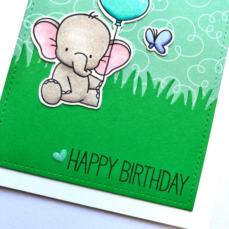 Elephant Birthday Card Cute Birthday Card Elephant Greeting Card Cute Animal Card Elephant Card Animal Birthday Card