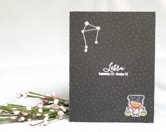 Libra Birthday Card - Libra Card - Zodiac Birthday Card - Astrology Birthday Card - Libra Scale - Zodiac Card - Constellation Card