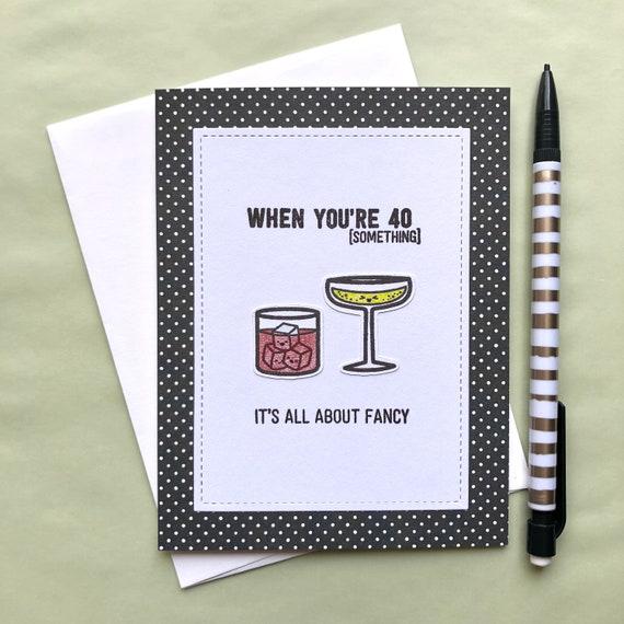 40th birthday card 40th birthday card for friend happy etsy
