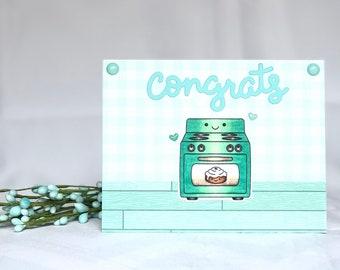 Pregnancy Card - Pregnancy Congrats Card - Expecting Card - Bun in the Oven - Pregnancy Congratulations Card - Baby on the Way Card