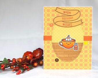 Coffee Birthday Card - Pumpkin Spice Latte - Latte Card - Pumpkin Spice Coffee - Coffee Card - Best Friend Birthday Card - Fall Birthday