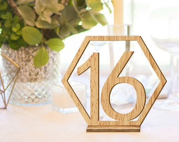 Geometric Table Numbers, Hexagonal Table Numbers, Gold Table Numbers, Boho Table Number, Wedding Table, Copper Table Number, Boho Wedding,